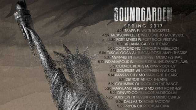 Soundgarden To Launch Us Tour In Late April The Pretty Reckless The Dillinger Escape Plan To