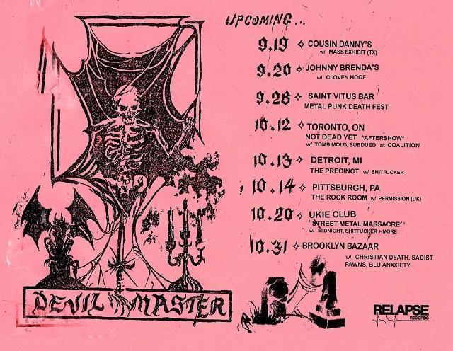Philadelphia's DEVIL MASTER Sign With Relapse Records