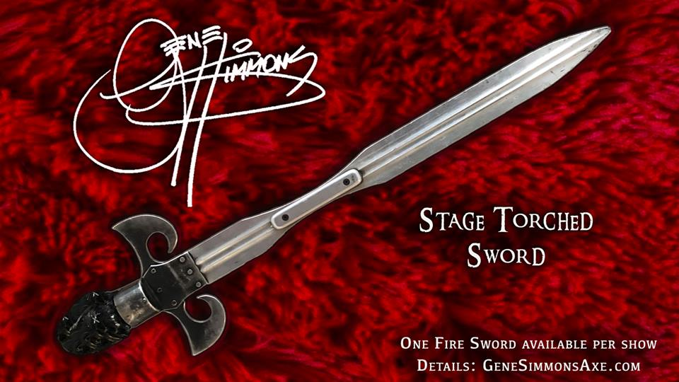 KISS - GENE SIMMONS' Fire Breathing / Stage-Torched Sword