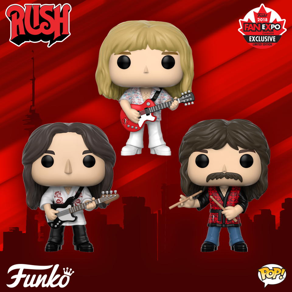 Rush Limited Edition Funko Pop Figures Unveiled