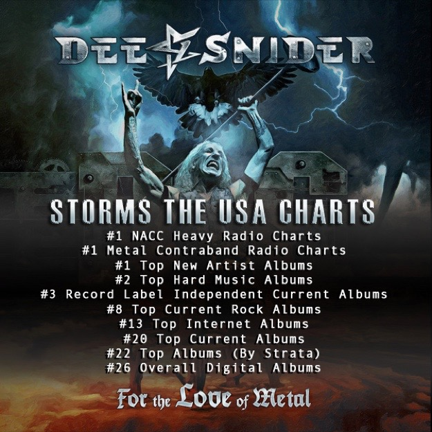 DEE SNIDER Storms Worldwide Charts With For The Love Of