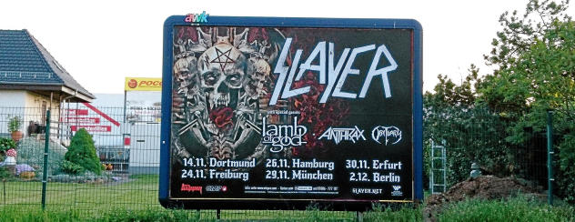 Slayer tour dates in Perth