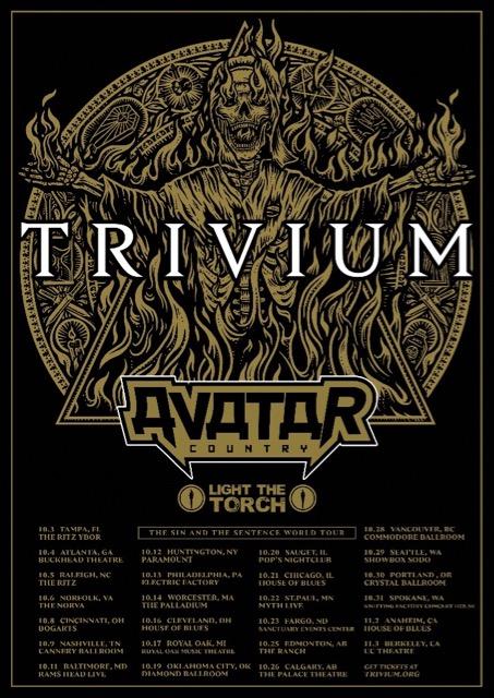 TRIVIUM Announce North American Headline Tour With AVATAR