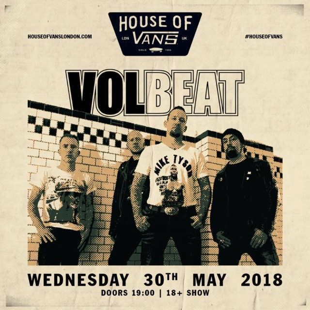 VOLBEAT Announce Free London Show At House Of Vans This