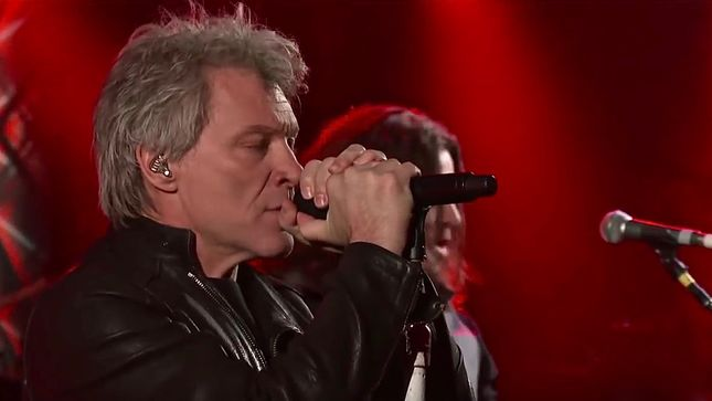 """BON JOVI Perform Mega-Hit """"You Give Love A Bad Name"""" On CBS' The Late Show With Stephen Colbert; Video"""