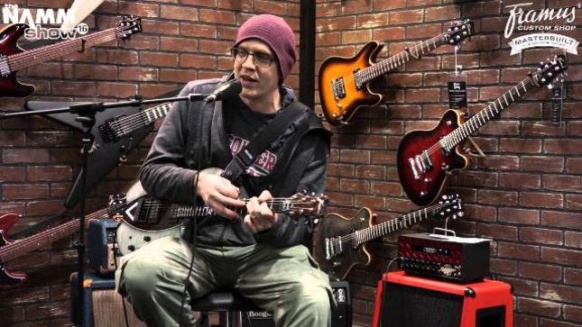 DEVIN TOWNSEND Unveils Finished Version Of Signature Stormbender Framus Guitar At NAMM 2018 (Video)