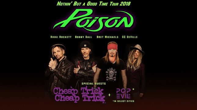 POISON, CHEAP TRICK And POP EVIL Join Forces For North American Summer Tour; Video Trailer Streaming