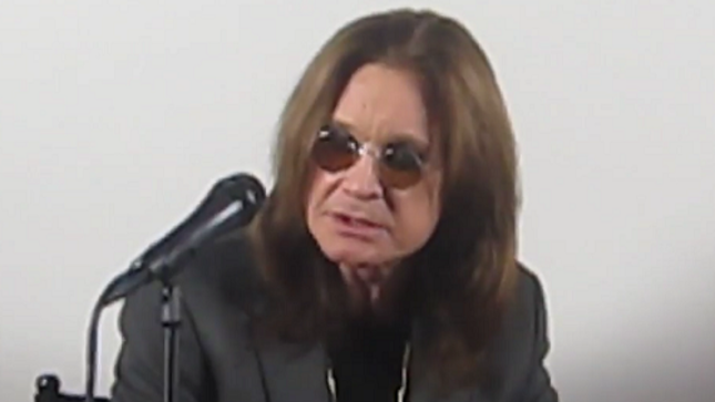 OZZY OSBOURNE - Video Footage From No More Tours 2 Press Conference