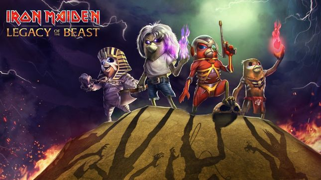IRON MAIDEN - Eddie The Bird Lands In Legacy Of The Beast Mobile Game; Video Trailer
