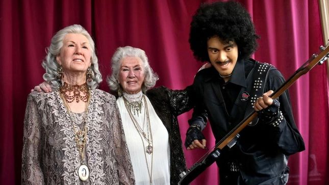 THIN LIZZY - PHIL LYNOTT's Mother PHILOMENA Has Waxwork Unveiled; Photos