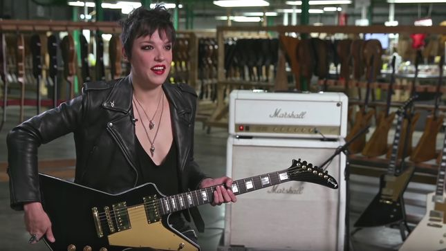 HALESTORM's LZZY HALE Offers Behind The Scenes Look At New Gibson Signature Guitar
