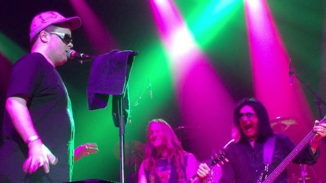"GENE SIMMONS - Fan-Filmed Video Of Blind Fan BRIAN McCAULEY Performing KISS Classic ""Dr. Love"" Posted: ""We Did Not Rehearse With Him"""