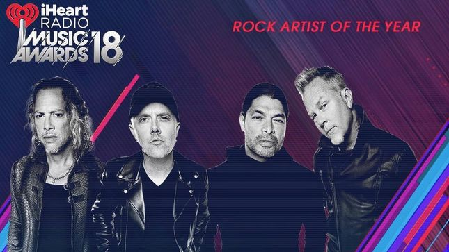 METALLICA Named 'Rock Artist Of The Year' At 2018 iHeartRadio Music Awards