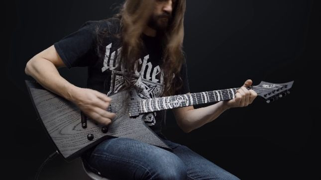 ola englund 39 s solar guitars unveil signature axe for the haunted witchery guitarist patrik. Black Bedroom Furniture Sets. Home Design Ideas