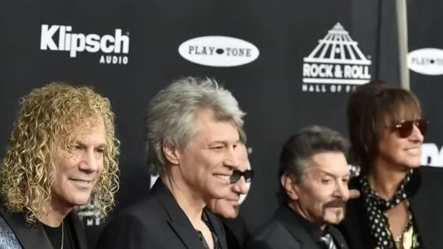 BON JOVI Inducted Into The Rock And Roll Hall Of Fame; Video