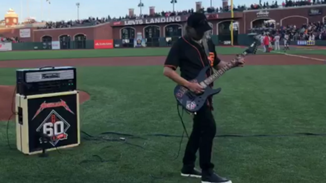 Sixth Annual METALLICA Night With The San Francisco Giants - Video Of KIRK HAMMETT Playing The National Anthem
