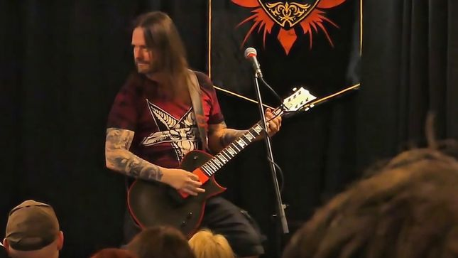 SLAYER / EXODUS Guitarist GARY HOLT Takes Part In Rock City Music Company In-Store Event; Video