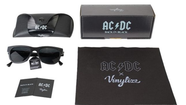 AC/DC - Vinylize Sunglasses Crafted From AC/DC LPs Available Now