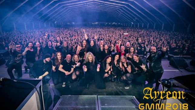 AYREON - Fan-Filmed Video From First Ever Festival Show At Graspop Metal Meeting 2018 Posted; Featuring TOMMY KAREVIK, SIMONE SIMONS,  ANNEKE VAN GIERSBERGEN, DAMIAN WILSON And More