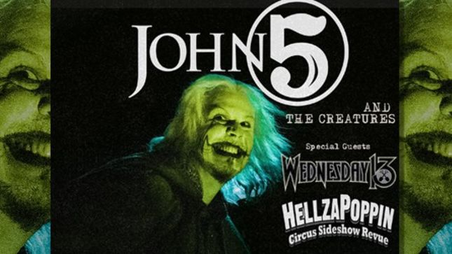 JOHN 5 Announces Famous Monsters Tour With WEDNESDAY 13