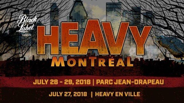 Heavy Montréal 2018 - Daily Schedules Revealed