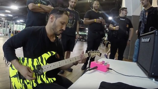 ANGEL VIVALDI Takes STEEL PANTHER Guitarist SATCHEL's Pussy Melter For A Test Drive; Video