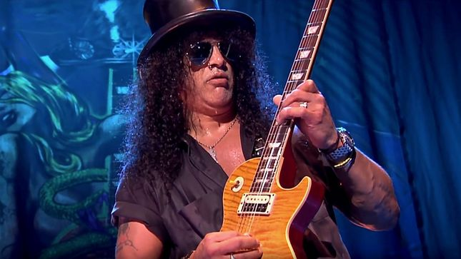 "SLASH On New GUNS N' ROSES Music - ""I Feel Pretty Optimistic That We'll Get Something Going Sooner Than Later"""