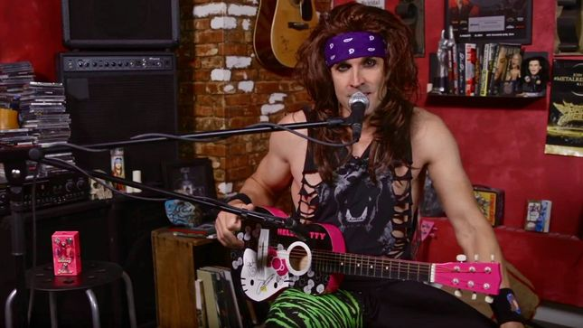 STEEL PANTHER Guitarist SATCHEL Performs On Hello Kitty Guitar; Video