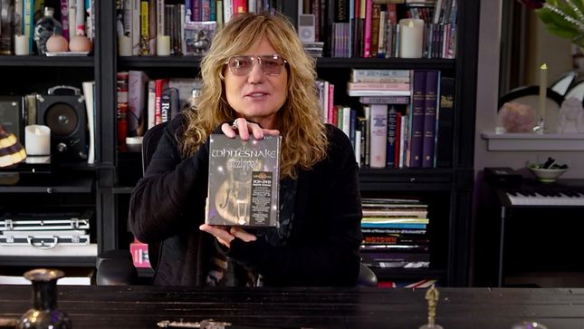 WHITESNAKE Singer DAVID COVERDALE Unboxes Unzipped: Super Deluxe Edition 5CD/DVD Collection; Video