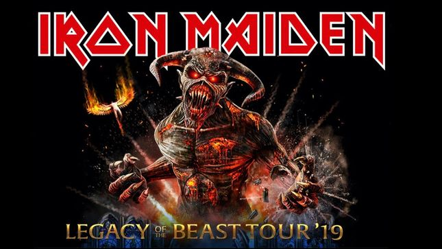 IRON MAIDEN Announces Legacy Of The Beast North American Tour 2019