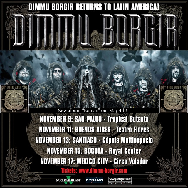dimmu borgir confirm south american mexican tour dates. Black Bedroom Furniture Sets. Home Design Ideas