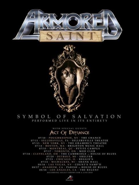Armored Saint Na Tour 2018 Performing Symbol Of Salvation