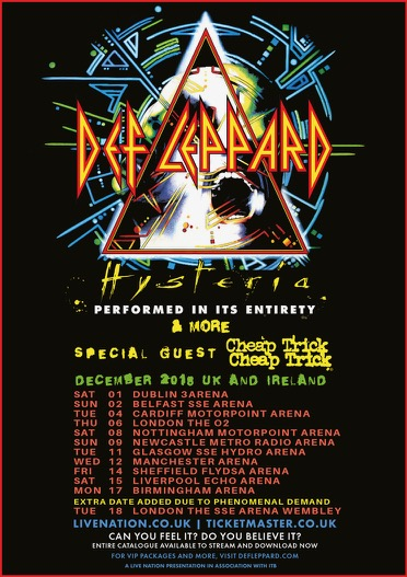 DEF LEPPARD - Second London Show Added To The Hysteria Tour With