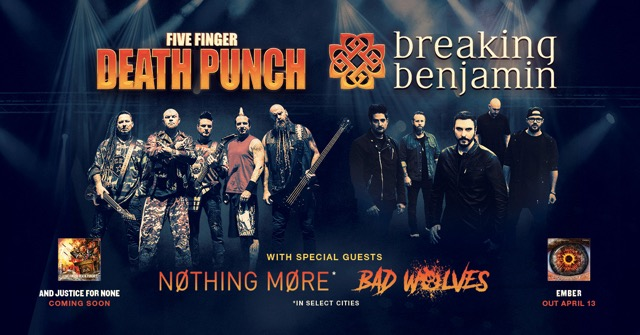 five finger death punch to release and justice for none album in may co headlining summer tour. Black Bedroom Furniture Sets. Home Design Ideas