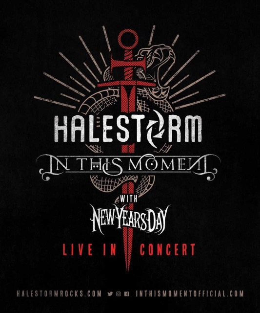 halestorm announce summer tour dates with in this moment new years day. Black Bedroom Furniture Sets. Home Design Ideas