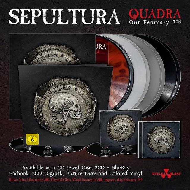 Sepultura Announce Quadra 2020 North American Tour With