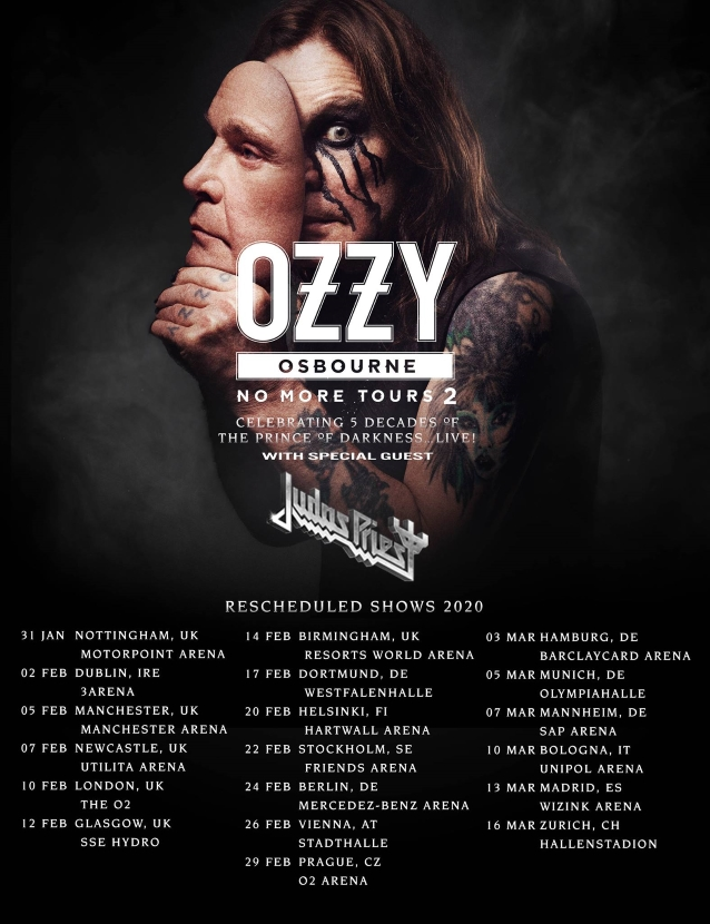 Ozzy Osbourne Announces Rescheduled No More Tours 2 2020