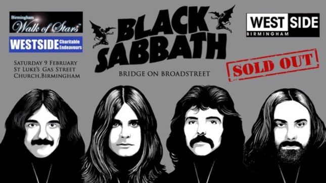 "BLACK SABBATH - ""Heavy Metal"" Bench Unveiled In Birmingham; Photos Available"