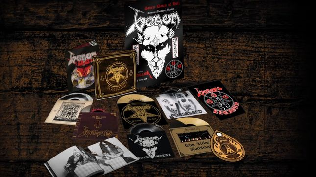 VENOM Release Unboxing Video For In Nomine Satanas 40th Anniversary Deluxe Vinyl Boxset