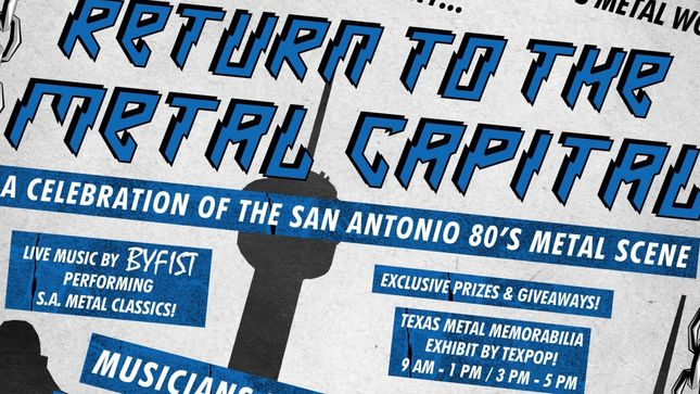 Return To The Metal Capital - HELSTAR, JUGGERNAUT, S.A. SLAYER Members To Take Part In San Antonio '80s Metal Presentation