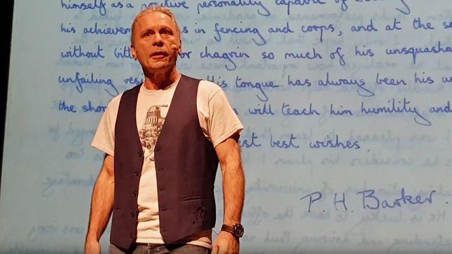 IRON MAIDEN Frontman BRUCE DICKINSON's Spoken Word Tour Hits Malta; Video