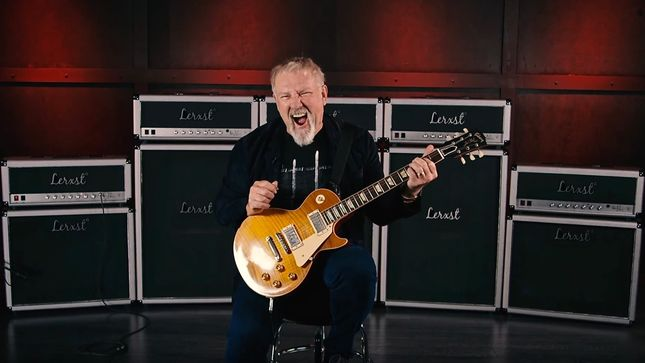 RUSH Guitarist ALEX LIFESON Discusses Lerxst Omega Signature Amplifier And More; Video Interview