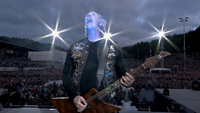 "METALLICA - Pro-Shot ""Enter Sandman"" Performance Video From Trondheim, Norway Posted"