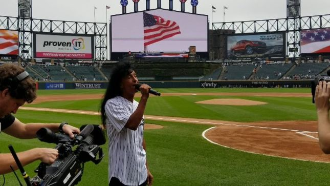 "ANTHRAX Frontman JOEY BELLADONNA Sings ""The Star-Spangled Banner"" At Chicago White Sox Game; Video Available"