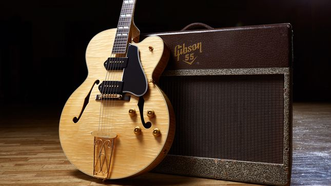 "CHUCK BERRY - Gibson Announces Release Of First-Ever, Limited-Edition ""Chuck Berry 1955 ES-350T"" Signature Guitar"