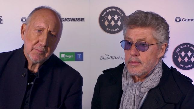 THE WHO Honoured With The First Stone On The Music Walk Of Fame, London; Photos, Video