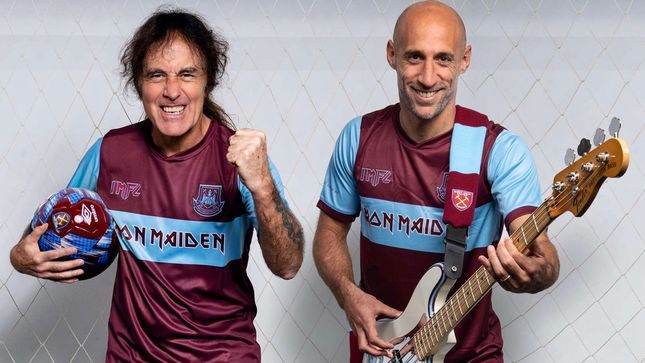 IRON MAIDEN And WEST HAM UNITED Unveil Football Kit Collaboration