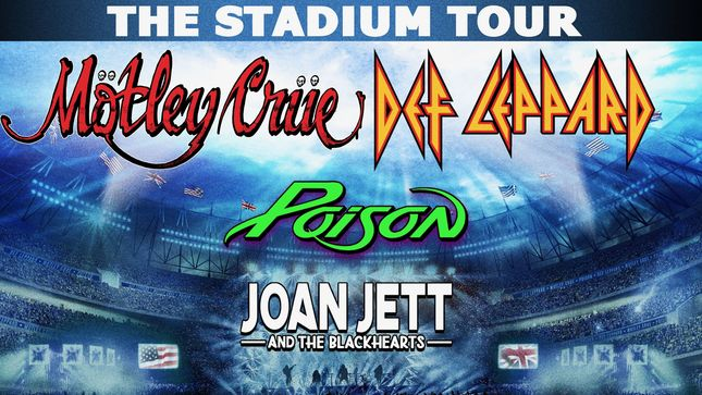 MÖTLEY CRÜE And DEF LEPPARD Announce The Stadium Tour 2020 With POISON, JOAN JETT & THE BLACKHEARTS; Video Trailer