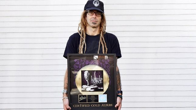 LAMB OF GOD Launch Campaign To Raise Funds For Libby's Legacy Breast Cancer Foundation; RANDY BLYTHE's Sacrament Gold Record Plaque, Handwritten Lyrics Up For Grabs