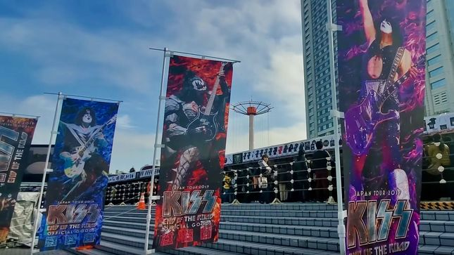 KISS - Tokyo Fans Form Massive Merch Lineup Seven Hours Before Show; Video